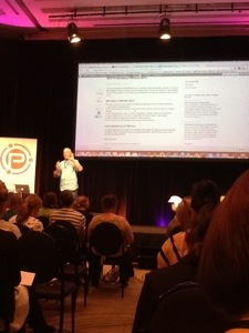 PBEVENT SEO Presentation Jimboot on stage